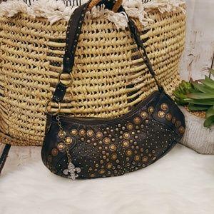 Wilsons Leather Studded Mini Shoulder Bag